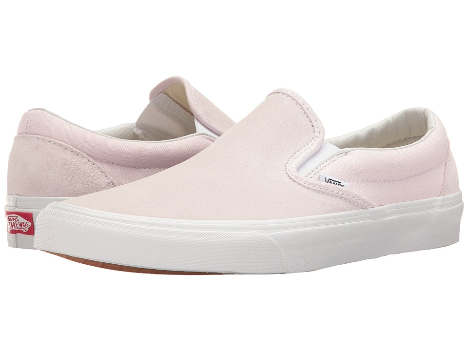 Vans Classic Slip-On ((Suede/Canvas) Orchid Ice/True White) Skate Shoes