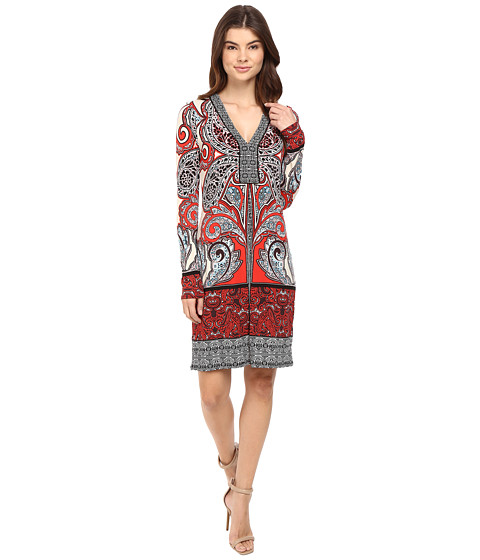 Hale Bob Through the Looking Glass Jersey Dress - Red