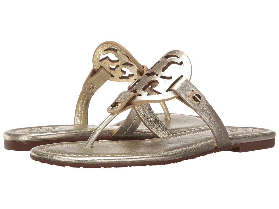 Tory Burch Miller Flip Flop Sandal (Spark Gold) Women's Shoes