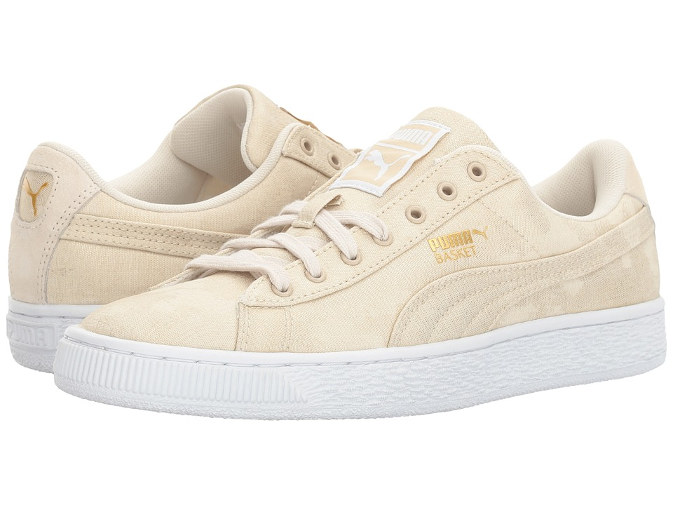 PUMA Basket Denim (Oatmeal/Puma White) Women