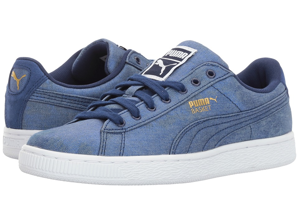 PUMA Basket Denim (Twlight Blue/Puma White) Women