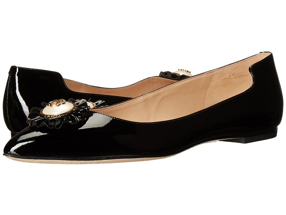 Tory Burch Melody Flat (Black) Women