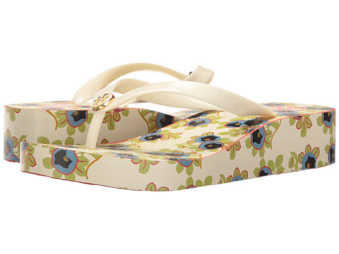 Tory Burch Classic Wedge Flip-Flop - Ivory/Avalon