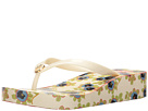 Tory Burch - Classic Wedge Flip-Flop (Ivory/Avalon)
