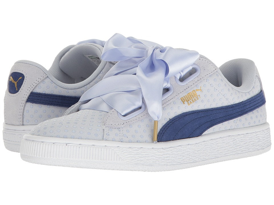 PUMA Basket Heart Denim (Halogen Blue/Twlight Blue) Women