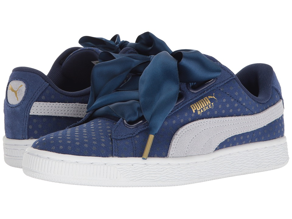 PUMA Basket Heart Denim (Twlight Blue/Halogen Blue) Women