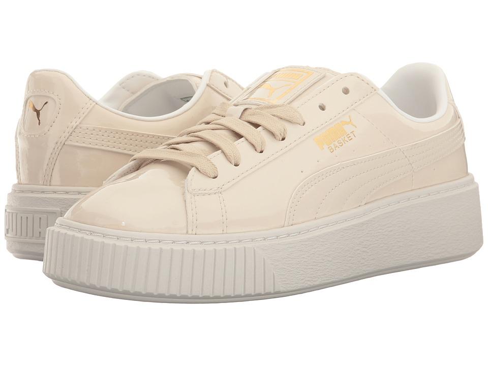 PUMA - Basket Platform Patent (Oatmeal/Oatmeal) Womens Shoes