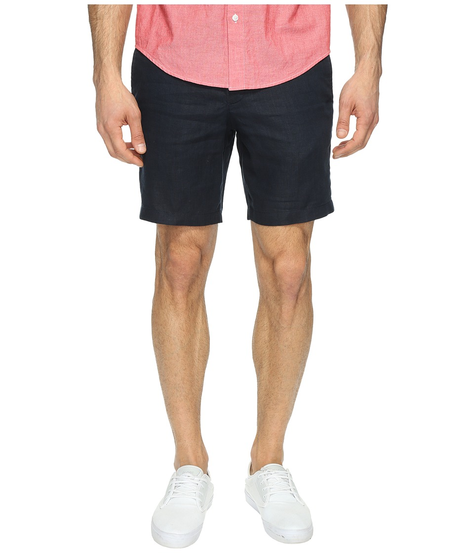 Original Penguin 8 Washed Linen Shorts (Dark Sapphire) Men