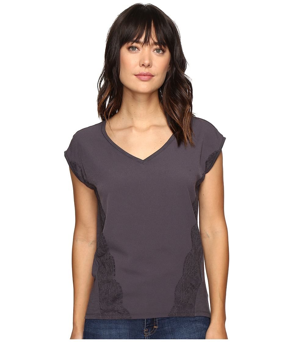 Calvin Klein Jeans Trend Table V-Neck T-Shirt (Nine Iron) Women