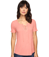 Calvin Klein Jeans - Laced-Up Short Sleeve Tee