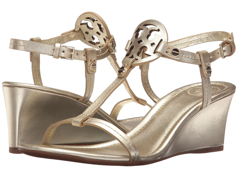 Tory Burch Miller 60mm Wedge Sandal (Spark Gold) Wedges