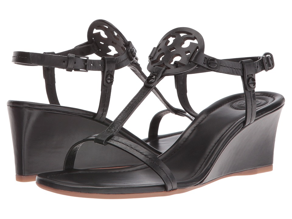 Tory Burch Miller 60mm Wedge Sandal (Black) Wedges