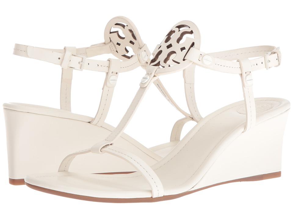 Tory Burch Miller 60mm Wedge Sandal (Bleach) Women's Wedg...