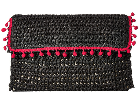 San Diego Hat Company BSB1703 Rectangular Paper Crochet Clutch - Black