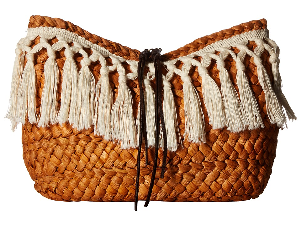 San Diego Hat Company BSB1709 Woven Cornhusk Clutch (Natural) Clutch Handbags