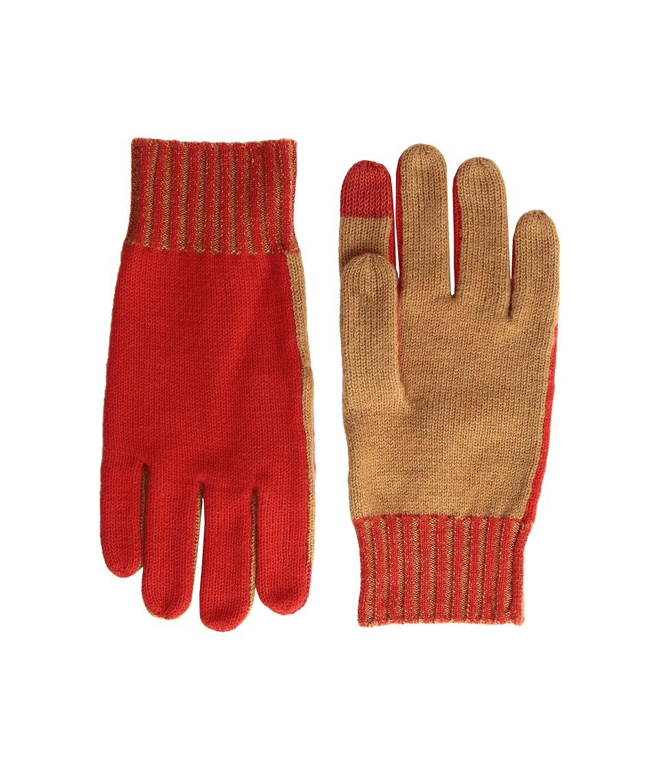 rag & bone Lorraine Tech Tip Gloves (Red) Extreme Cold Weather Gloves