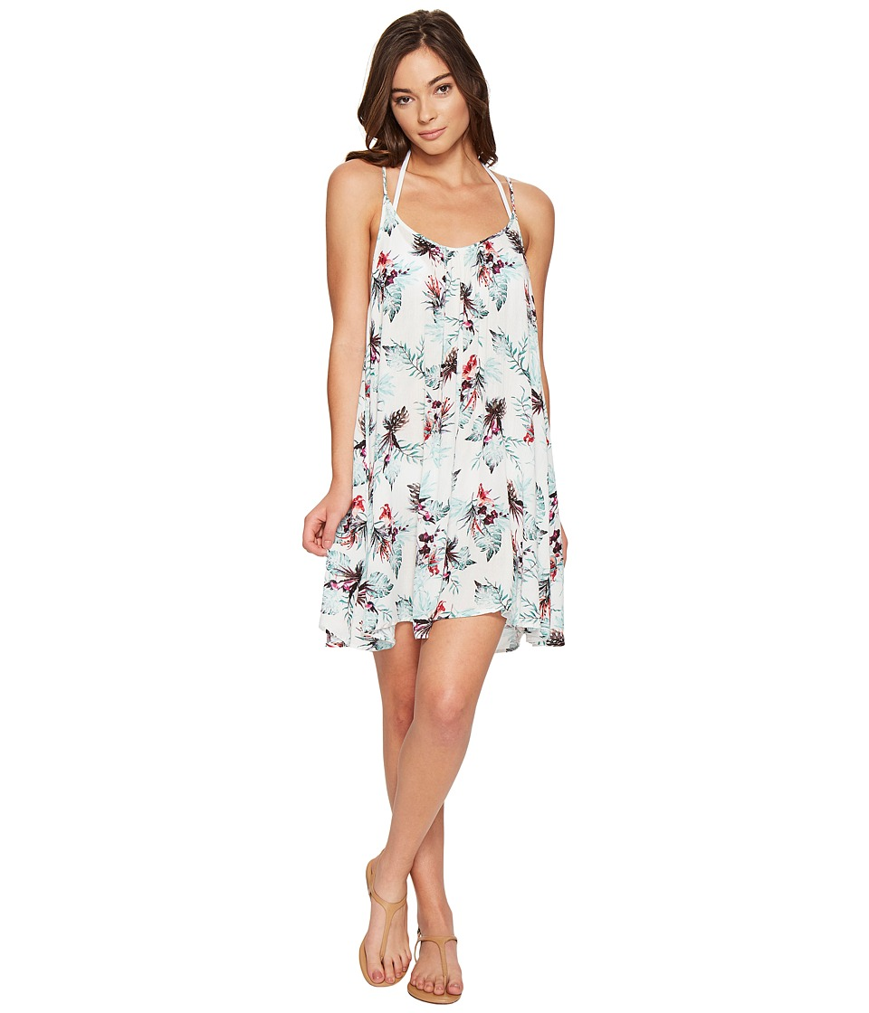 Roxy Windy Fly Away Print Dress Cover-Up (Marshmallow Cariban Flowers) Women