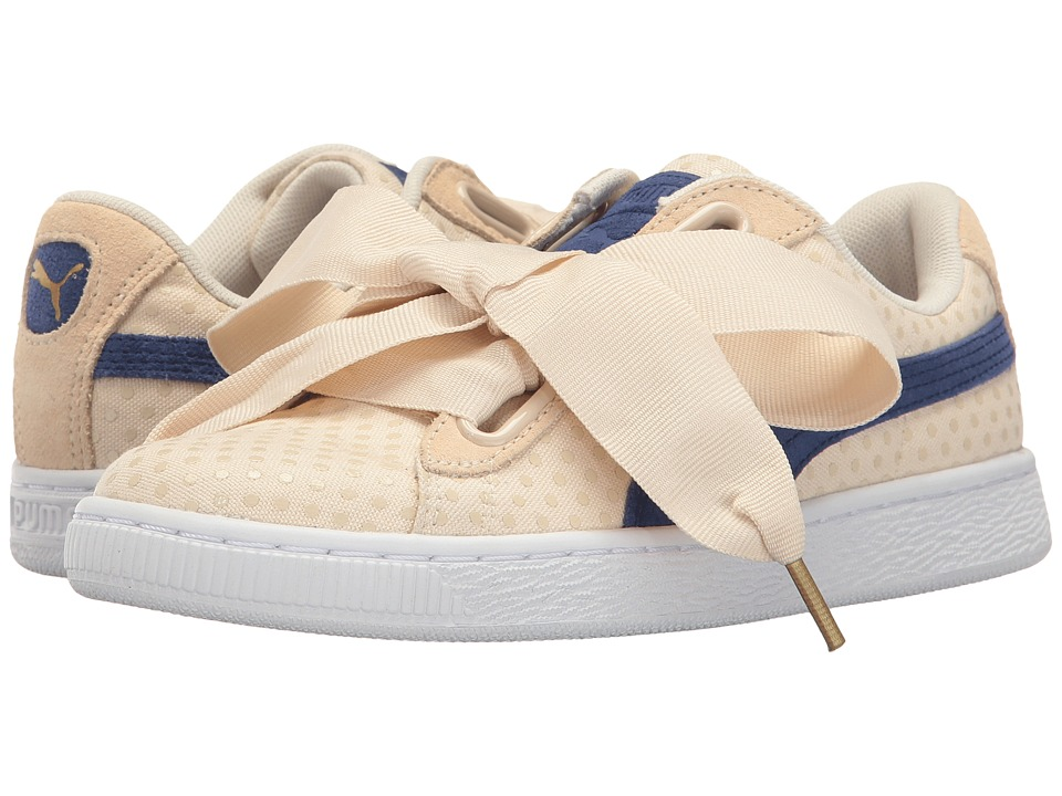 PUMA Basket Heart Denim (Oatmeal/Twilight Blue) Women