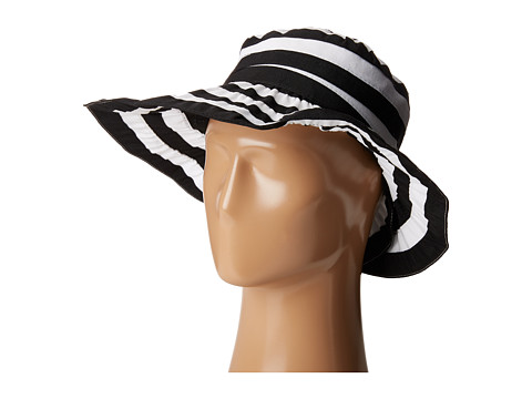 San Diego Hat Company RBL4792 Crossback Striped Ribbon Hat - Black/White