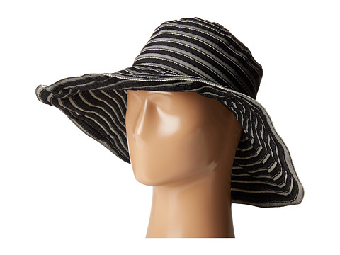 San Diego Hat Company RBL4788 Tonal Ribbon Wired Brim Hat - Black