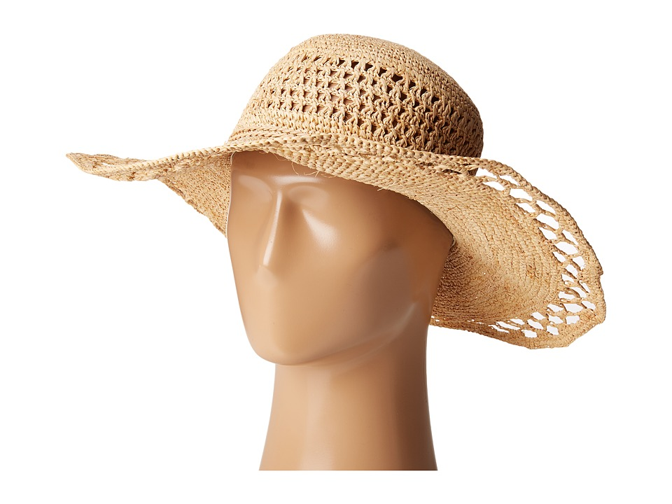 San Diego Hat Company - RHL3085 Crochet Raffia Sun Brim Hat (Natural) Traditional Hats