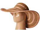San Diego Hat Company UBL6489 Round Crown Stripe Ultrabraid Floppy Hat