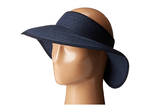 San Diego Hat Company UBV002 Ultrabraid Visor with Ribbon Lining - Navy