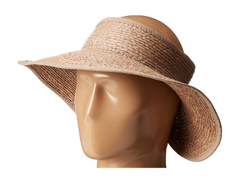 San Diego Hat Company RHV1505 Raffia Roll Up Visor with Velcro Closure - Nougat