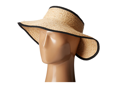 San Diego Hat Company RHV1505 Raffia Roll Up Visor with Velcro Closure - Natural