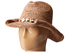 San Diego Hat Company RHC1080 Crochet Raffia Hat with Beaded Trim