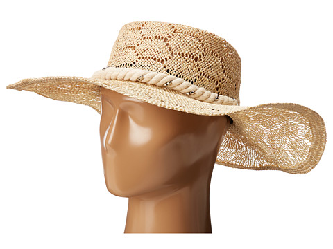 San Diego Hat Company SPS1001 Sisal Quilt Stitch Floppy Hat - Natural