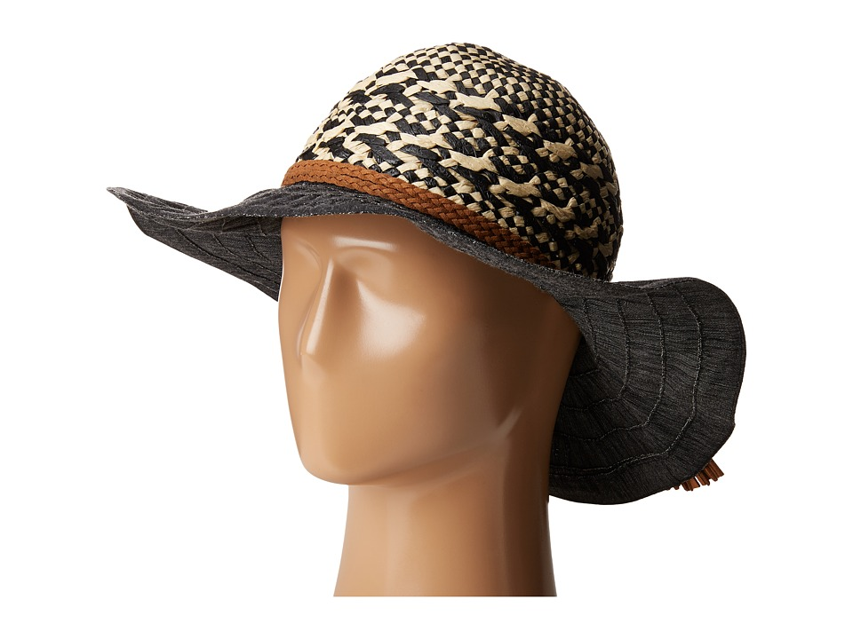 San Diego Hat Company - RBL4791 Mixed Paper Crown Hat with Tassel (Black) Traditional Hats