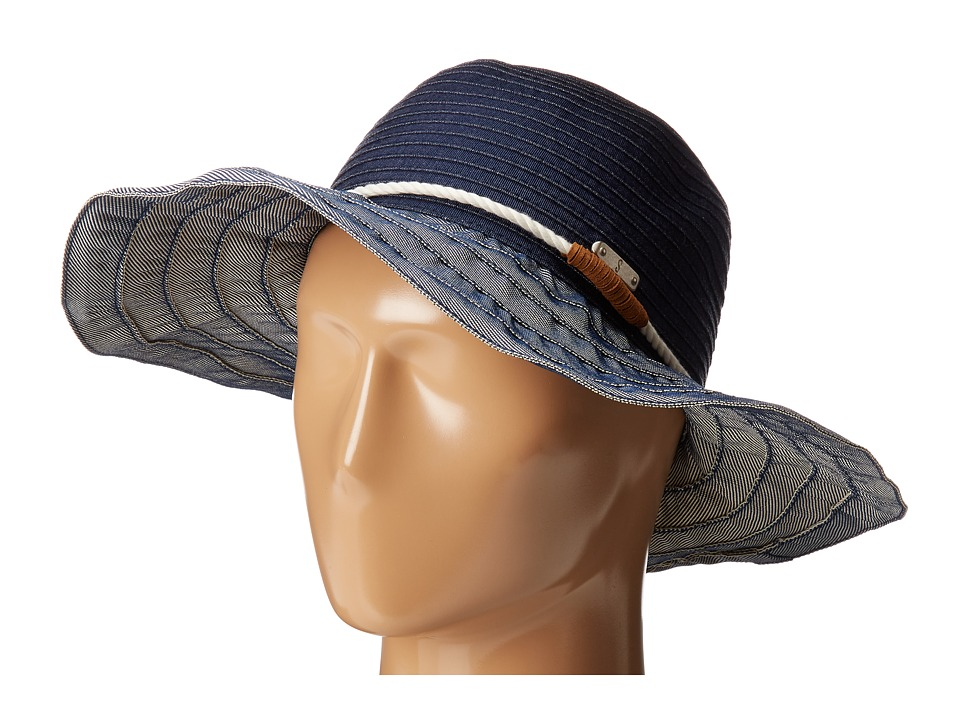 San Diego Hat Company - RBL4787 Ribbon Hat with Rope Band (Denim) Traditional Hats