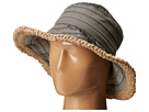 San Diego Hat Company RBM5563 Bucket Ribbon Hat with Crochet Hemp Edging