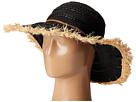 San Diego Hat Company RBL4789 Ribbon Hat with Raffia Sun Brim Frayed Edge