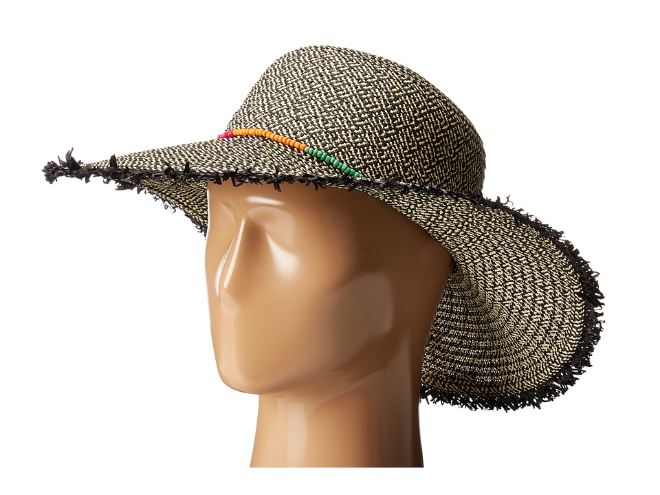 San Diego Hat Company - UBM4458 Ultrabraid Floppy Hat (Natural/Black) Traditional Hats