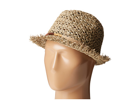 San Diego Hat Company SGF2017 Open Weave Seagrass Fedora - Natural