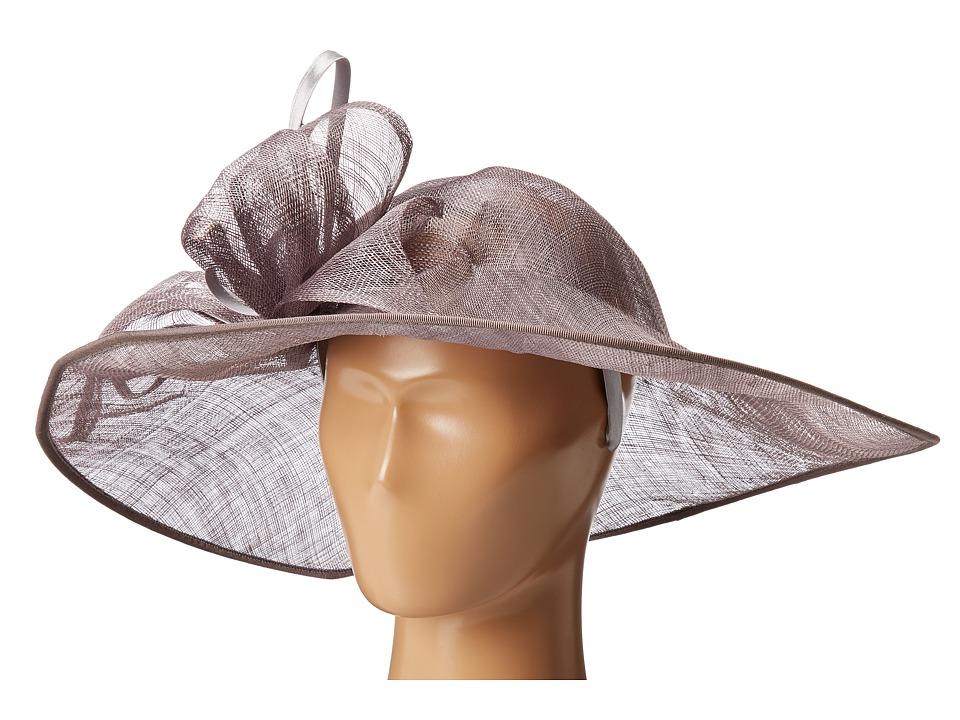 San Diego Hat Company - DRS1015 Derby Asymmetrical Fascinator Hat (Charcoal) Traditional Hats