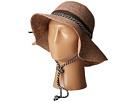 San Diego Hat Company - RHM6008 Crochet Raffia Striped Chin Hat