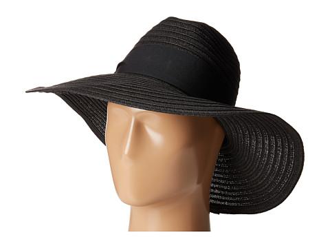 San Diego Hat Company UBL6494 Four Buttons Ultrabraid Fedora Hat - Black