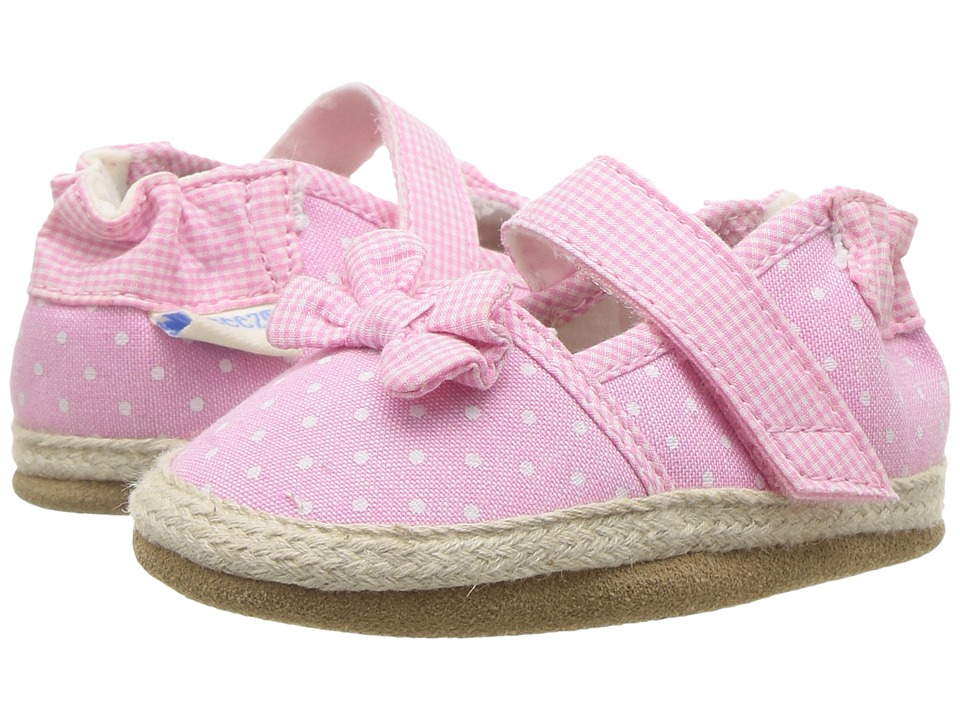 Robeez Buttercup Espadrille Soft Sole (Infant/Toddler) (Pink) Girl's Shoes