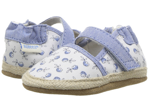 Robeez Poppies Espadrille Soft Sole (Infant/Toddler) - White Pattern