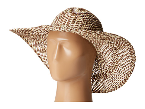 San Diego Hat Company PBL3080 Four Buttons Open Weave Floppy Hat - Natural Mix