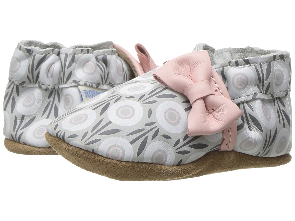 Robeez Wildflowers Soft Sole (Infant/Toddler) (Pastel Pink) Girl's Shoes
