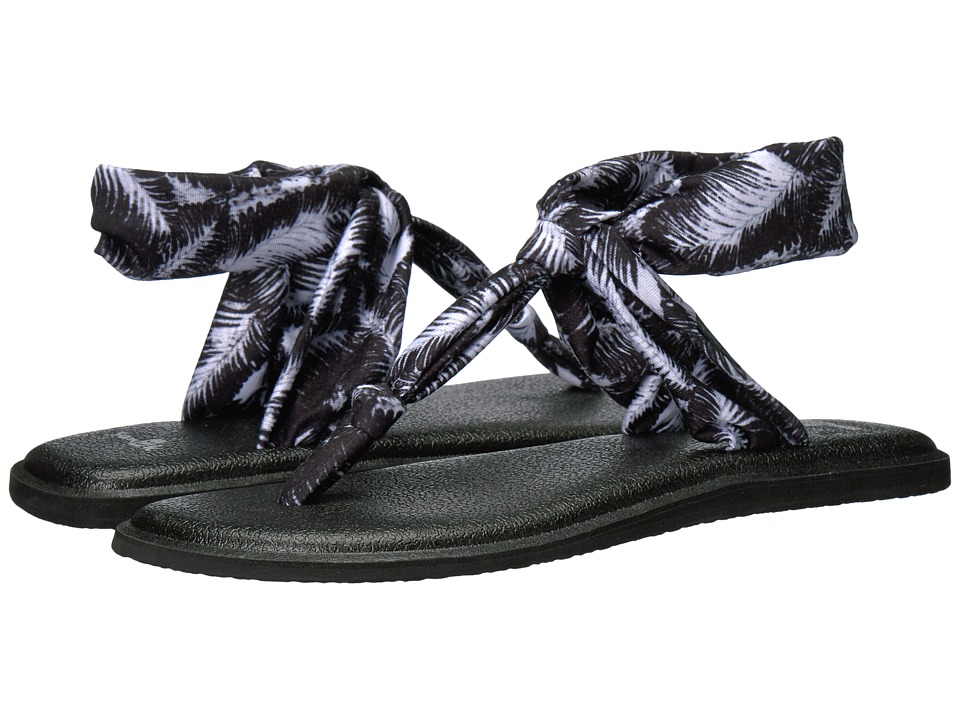 Sanuk Yoga Sling Ella Prints (Black Hazy Palms) Women