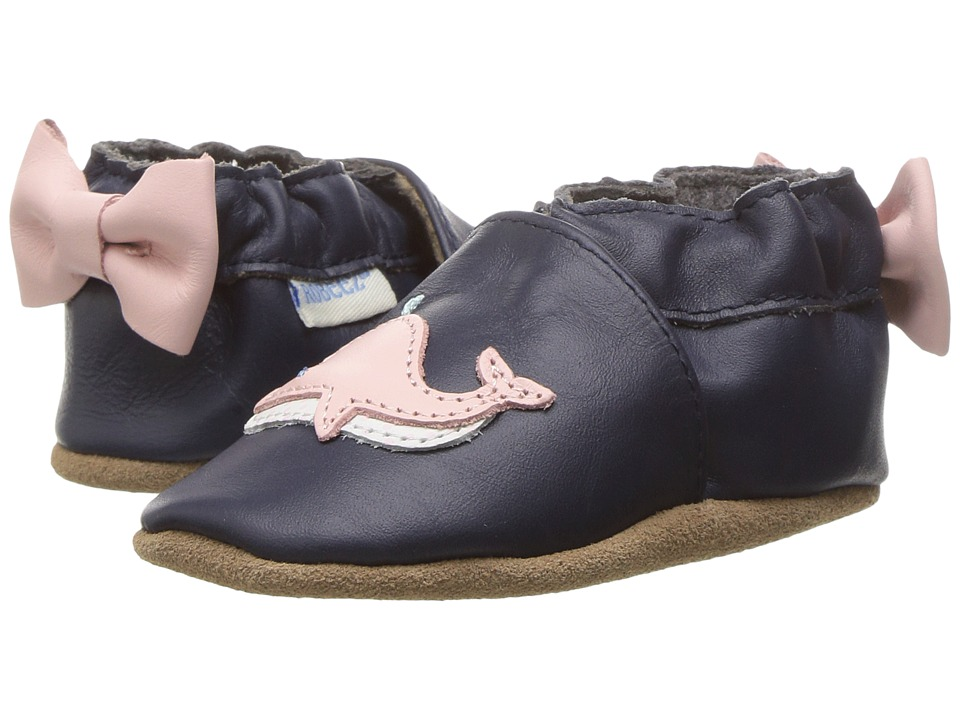 Robeez Winnie the Whale Soft Sole (Infant/Toddler) (White Pattern) Girl's Shoes