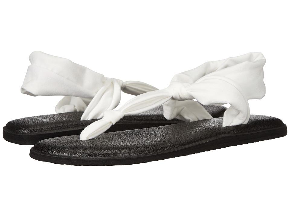 Sanuk Yoga Sling Ella (White) Sandals