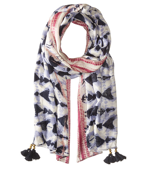San Diego Hat Company BSS1715 Woven Tie-Dye Scarf with Tassels - Navy