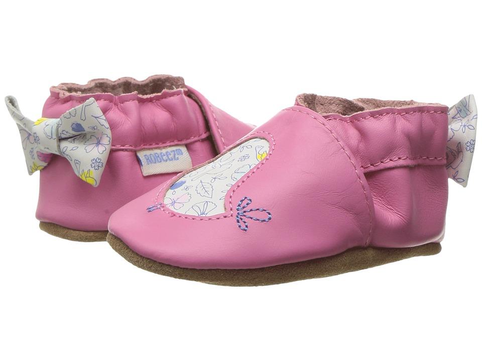 Robeez Rockin' Robin Soft Sole (Infant/Toddler/Little Kid) (Azalea) Girl's Shoes