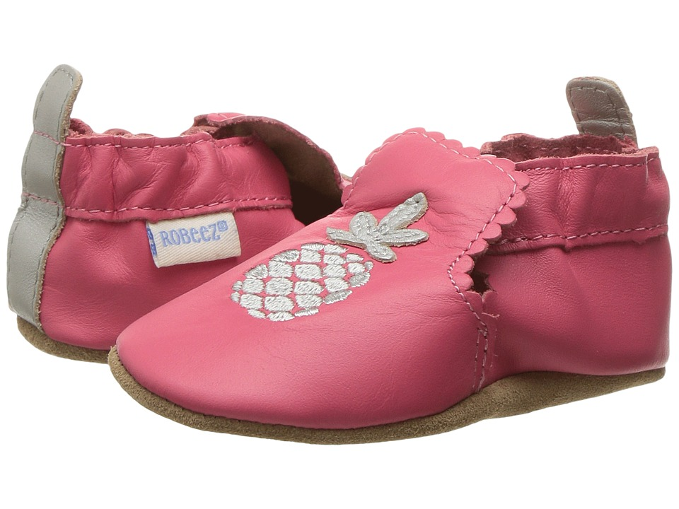 Robeez Pretty Pineapple Soft Sole (Infant/Toddler) (Grey) Girl's Shoes